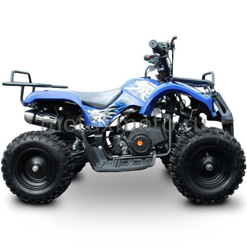 Квадроцикл от 3 лет MOTAX ATV Mini Grizlik X-16 с ручным стартером 50cc синий