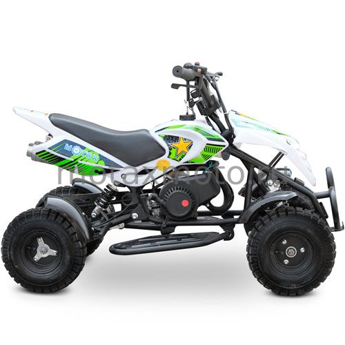 Недорогой квадроцикл MOTAX ATV H4 mini 50cc бело-зеленый