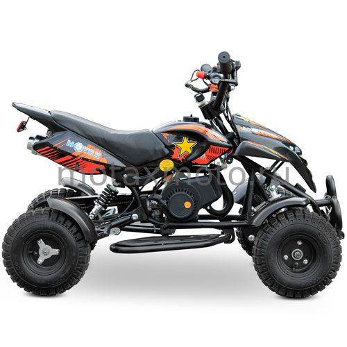 Квадроцикл для детей MOTAX ATV H4 mini 50cc черно-оранжевый