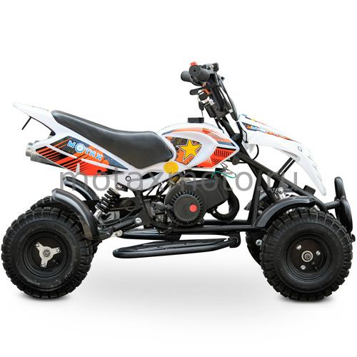 Квадроцикл MOTAX ATV H4 mini 50cc бело-оранжевый