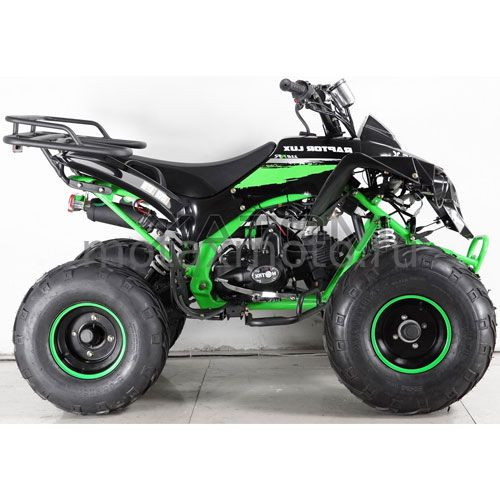 Квадроцикл MOTAX ATV Raptor Super LUX 125cc черно-зеленый